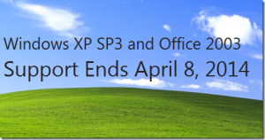 Windows XP and Office 2003 lose support